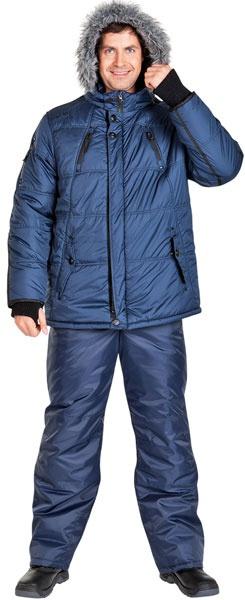 Синяя модель куртки ГУДЗОН