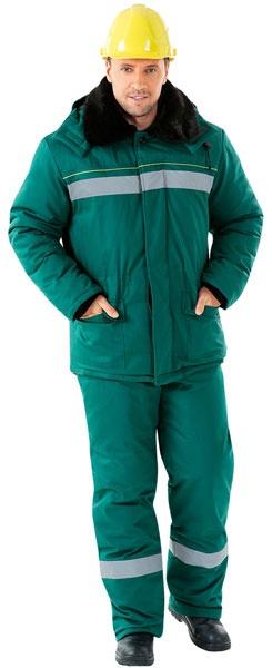 Зимняя рабочая куртка АЛТАЙ с СОП зеленая