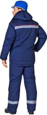 Куртка АЛТАЙ синего цвета СОП кокетка . Уменьшенная фотография.