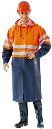 Сигнальный плащ оранжевый 3 класс защиты. Уменьшенная фотография.