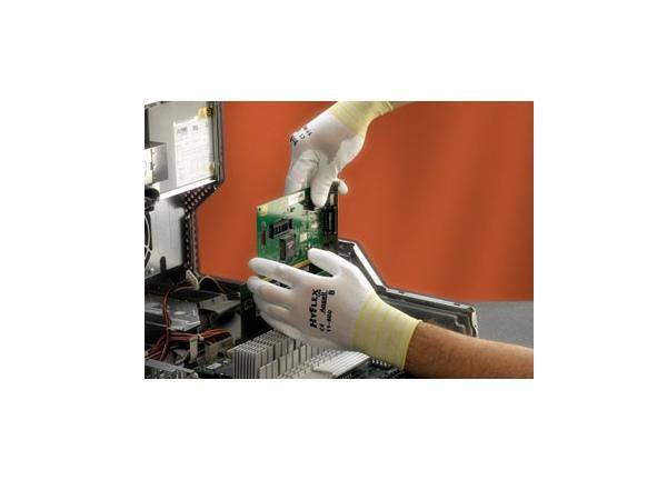 Купить Перчатки ХАЙФЛЕКС нейлоновая основа ПУ покрытие, белые
