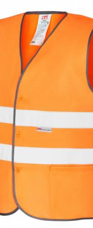 Оранжевый сигнальный жилет тип-2 на пуговицах. Уменьшенная фотография.