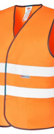 Модель жилета Виджет  Оксфорд оранж с СОП-2  . Уменьшенная фотография.