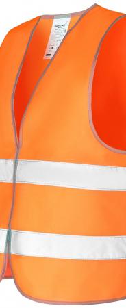 Оранжевый сигнальный жилет ЭКОНОМ с СОП-2. Уменьшенная фотография.