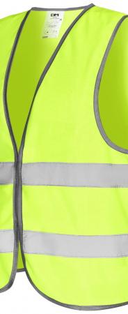 Модель жилета ЭКОНОМ желтого цвета. Уменьшенная фотография.
