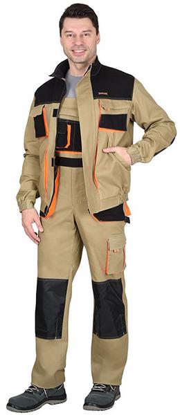 Куртка МАНХЕТТЕН классика песочная. Уменьшенная фотография.