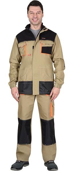 Куртка МАНХЕТТЕН длинная песочная. Уменьшенная фотография.