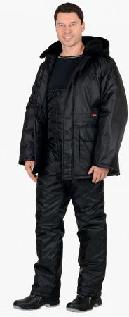 """Костюм """"СИРИУС-Безопасность"""" зимний: куртка дл., п/комб. чёрный. Уменьшенная фотография."""