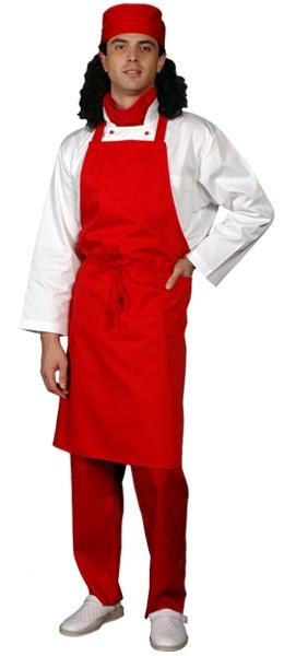 Фартук повара ГРИЛЬ красный