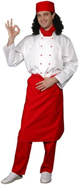 Фартук повара удлиненный красный