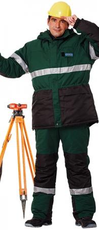 Костюм рабочий зимний НОРД зеленый. Уменьшенная фотография.