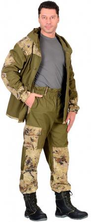 "Костюм ""Горка"" куртка, брюки (п-но палаточн.+отделка тк.Кроун) КМФ Саванна. Уменьшенная фотография."