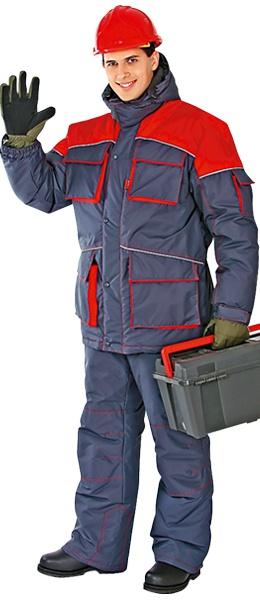 Модель костюма СПЕЦ отделка красным
