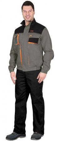 """Куртка """"МАНХЕТТЕН"""" короткая, оливковая с оранжевым и черным. Уменьшенная фотография."""