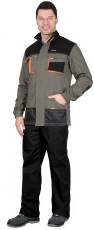 """Куртка """"МАНХЕТТЕН"""" удлиненная, оливковая с оранжевым и черным. Уменьшенная фотография."""