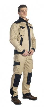"""Куртка """"Велар"""" бежевый/черный. Уменьшенная фотография."""