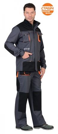 Куртка МАНХЕТТЕН классика серая. Уменьшенная фотография.