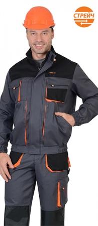 Куртка МАНХЕТТЕН короткая серая. Уменьшенная фотография.