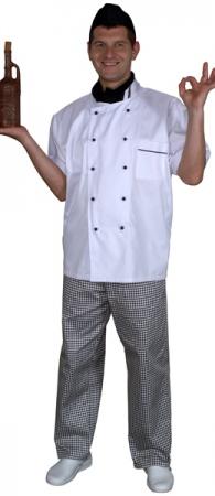 Куртка поварская белая мод.0298w-d. Уменьшенная фотография.