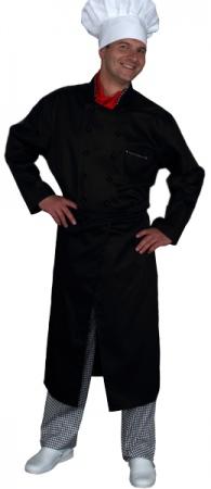 Куртка поварская черная мод.0297d. Уменьшенная фотография.