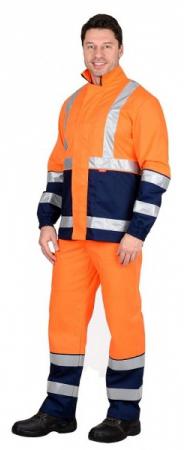"""Костюм """"ТЕРМИНАЛ-3"""" : куртка, п/к оранжевый с темно-синим. Уменьшенная фотография."""