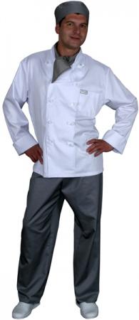 Куртка поварская белая мод.0300w. Уменьшенная фотография.