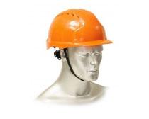 """Каска защитная """"ЭТАЛОН"""" с храповиком оранжевая. Уменьшенная фотография."""