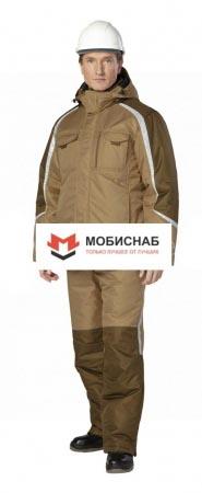 """Костюм рабочий мужской зимний """"Финикс"""" цвет бежевый/хаки. Уменьшенная фотография."""