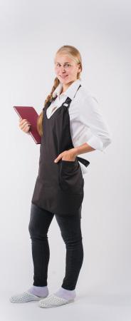Фартук официанта продавца укороченный мод.026g. Уменьшенная фотография.