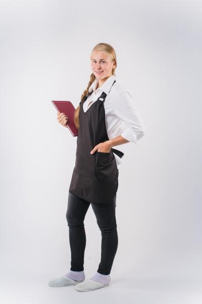Фартук официанта продавца укороченный мод.026g