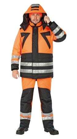 Костюм КВАНТ оранжевый флуор с черным. Уменьшенная фотография.