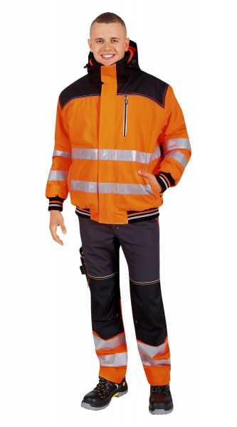 Куртка CERVA НОКСФИЛД ХАЙ-ВИЗ оранжевая флуор с черным