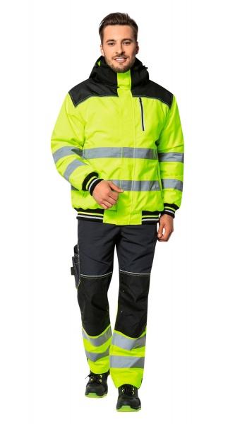 Куртка CERVA НОКСФИЛД ХАЙ-ВИЗ желтая флуор с черным