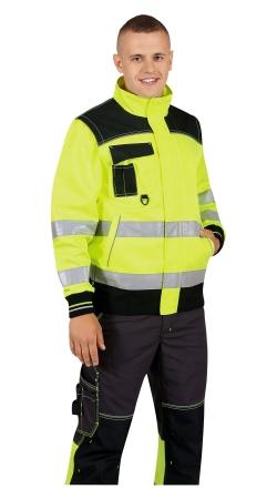 Куртка CERVA НОКСФИЛД ХАЙ-ВИЗ желтая флуор с черным. Уменьшенная фотография.