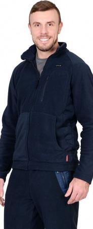 """Куртка флисовая """"СИРИУС-Актив"""" синяя отделка синяя. Уменьшенная фотография."""