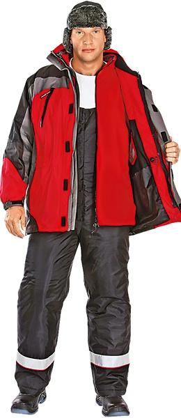 Куртка утепленная 2х1 ФРИСТАЙЛ красная