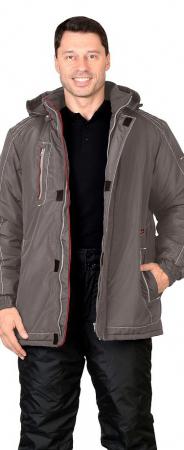 "Куртка ""АЛЕКС"" : зимняя, мужская, цв. т-серый. Уменьшенная фотография."