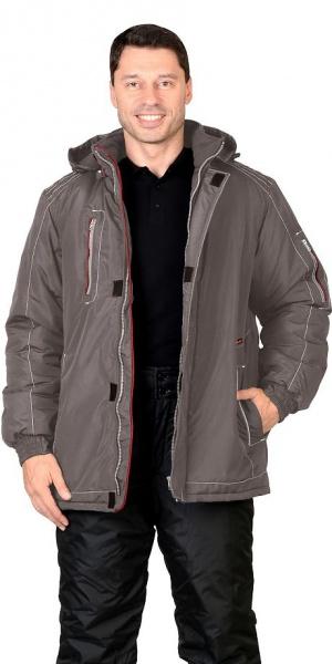 """Куртка """"АЛЕКС"""" : зимняя, мужская, цв. т-серый"""