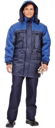 Утепленная куртка для ИТР ДРАЙВ синего цвета. Уменьшенная фотография.