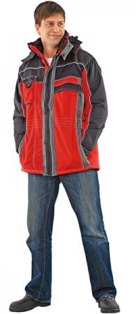 Куртка утепленная НЕВАДА красная с черным. Уменьшенная фотография.