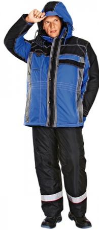Куртка утепленная НЕВАДА синяя с черным. Уменьшенная фотография.