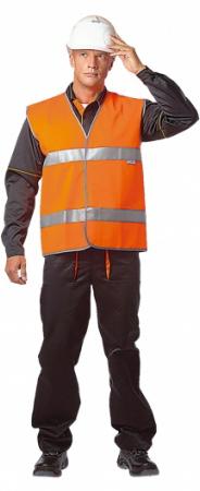 Жилет сигнальный ГАБАРИТ ГОСТ СЕ оранжевый . Уменьшенная фотография.
