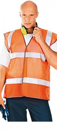Жилет сигнальный АЭРОН оранжевый сетка. Уменьшенная фотография.