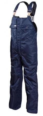 Полукомбинезон зимний рабочий мужской темно-синий на стеганой подкладке. Уменьшенная фотография.