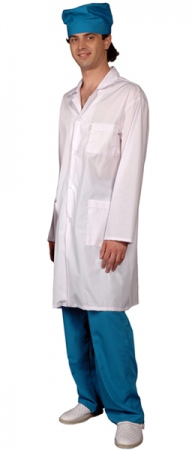Халат медицинский мужской Подиум-0190-w. Уменьшенная фотография.