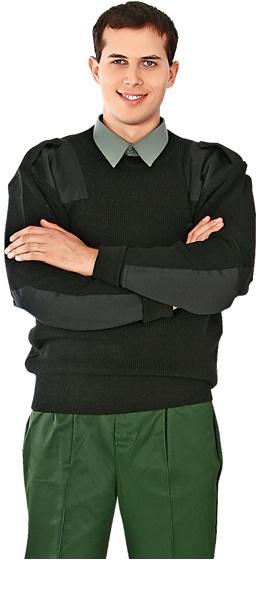 Свитер шерстяной Капитан черный
