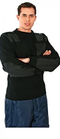 Свитер акриловый Элемент черный. Уменьшенная фотография.
