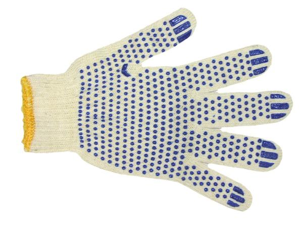 Купить Перчатки трикотажные ПВХ Точка класс 7, 4-х нитка
