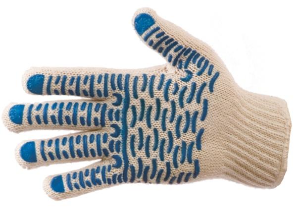 Купить Перчатки трикотажные ПВХ Волна класс 7, 4-х нитка