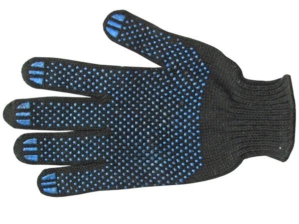 Купить Перчатки ХБ ПВХ черные в ассортименте